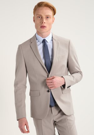 PLAIN MENS SUIT SLIM FIT - Oblek - beige