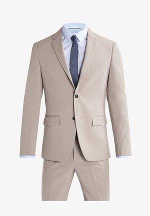 PLAIN MENS SUIT SLIM FIT - Oblek - beige