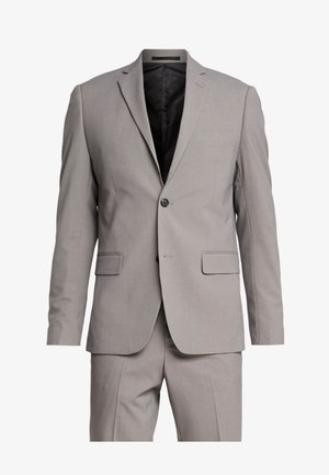 PLAIN MENS SUIT SLIM FIT - Suit - sand melange