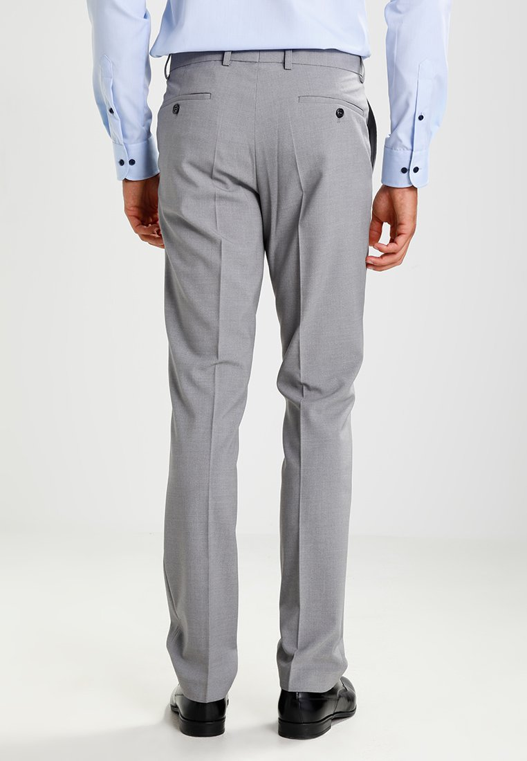 Lindbergh Plain Mens Suit Slim Fit - Costume Light Grey Melange