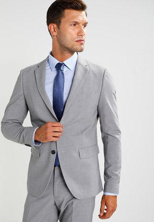 PLAIN MENS SUIT SLIM FIT - Oblek - light grey melange