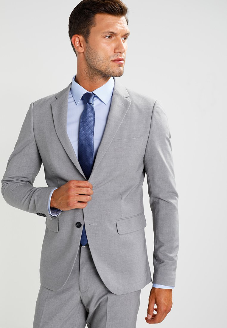 Lindbergh - PLAIN MENS SUIT SLIM FIT - Kostuum - light grey melange