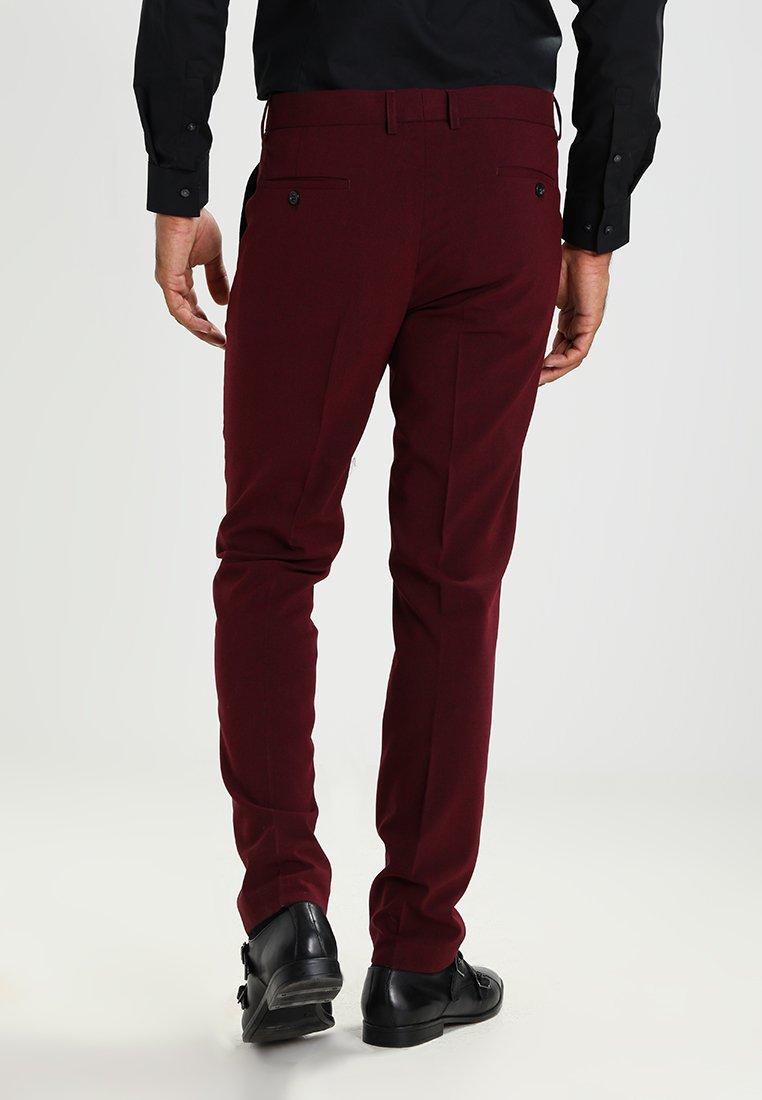 Plain Lindbergh Suit FitCostume Bordeaux Mens Slim Melange qzSMVUp