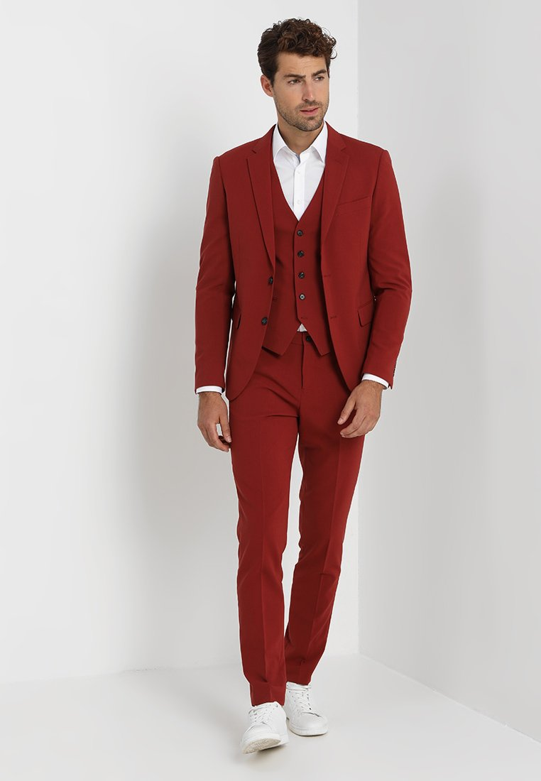 Lindbergh - PLAIN MENS SUIT SLIM FIT - Kostym - dark red