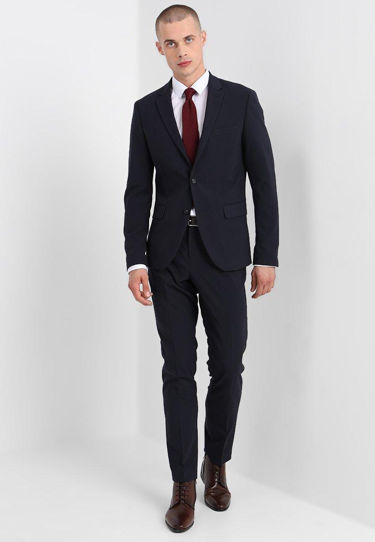 Navy Lindbergh Suit Slim Mens FitCostume Plain 8wXnOkP0
