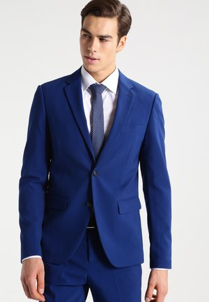 PLAIN MENS SUIT SLIM FIT - Oblek - blue