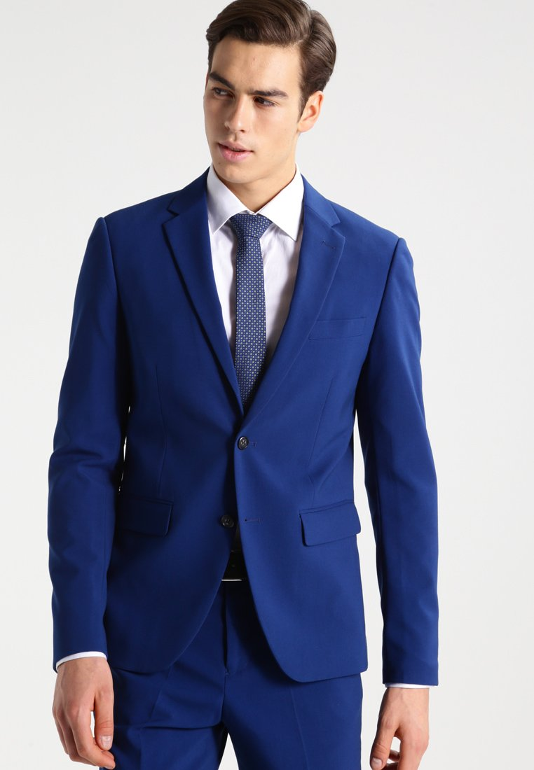 Lindbergh - PLAIN MENS SUIT SLIM FIT - Oblek - blue