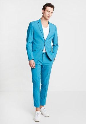 PLAIN MENS SUIT SLIM FIT - Oblek - turquoise melange