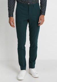 Lindbergh - PLAIN MENS SUIT SLIM FIT - Kostuum - dark green - 4