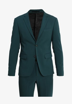 PLAIN MENS SUIT SLIM FIT - Oblek - dark green