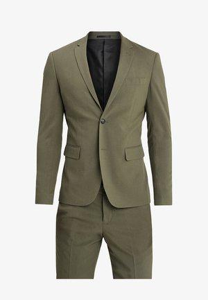 PLAIN MENS SUIT SLIM FIT - Suit - olive