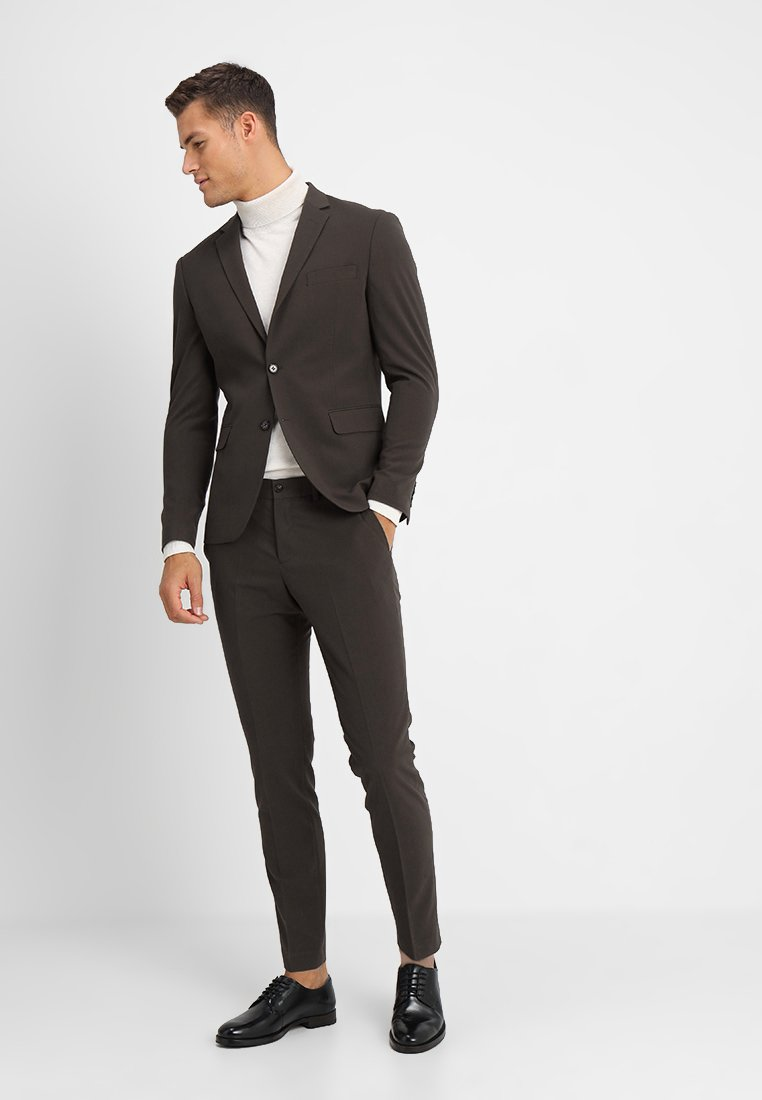 Lindbergh - PLAIN MENS SUIT SLIM FIT - Anzug - brown