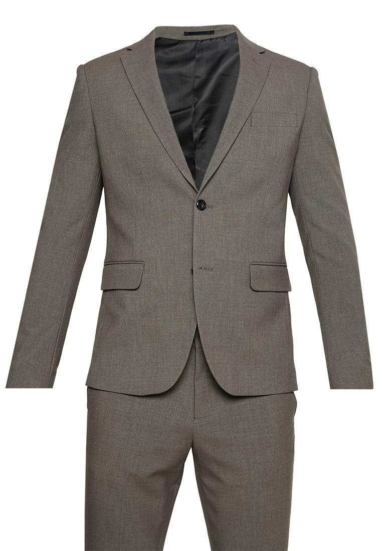 Lindbergh - PLAIN MENS SUIT SLIM FIT - Traje - light brown