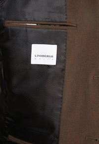 Lindbergh - PLAIN MENS SUIT SLIM FIT - Oblek - brown melange - 6