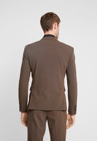Lindbergh - PLAIN MENS SUIT SLIM FIT - Oblek - brown melange - 3