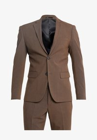Lindbergh - PLAIN MENS SUIT SLIM FIT - Oblek - brown melange - 10