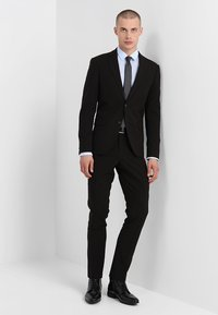 Lindbergh - PLAIN MENS SUIT SLIM FIT - Oblek - black - 1