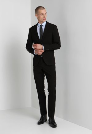 PLAIN MENS SUIT SLIM FIT - Costume - black