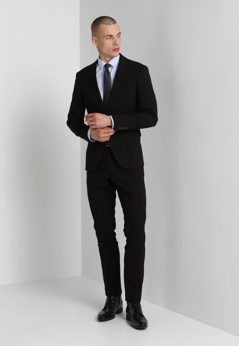 Lindbergh - PLAIN MENS SUIT SLIM FIT - Puku - black