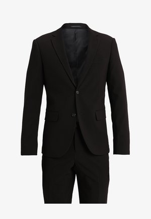 PLAIN MENS SUIT SLIM FIT - Oblek - black