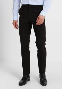 Lindbergh - PLAIN MENS SUIT SLIM FIT - Oblek - black - 4