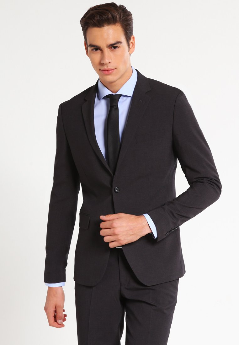 Lindbergh - PLAIN MENS SUIT SLIM FIT - Completo - dark grey