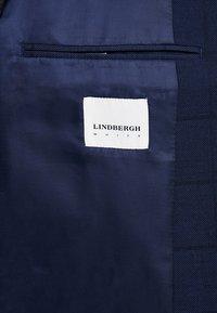 Lindbergh - CHECKED SUIT SLIM - Anzug - dark blue - 12