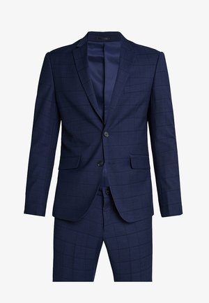 CHECKED SUIT SLIM - Anzug - dark blue