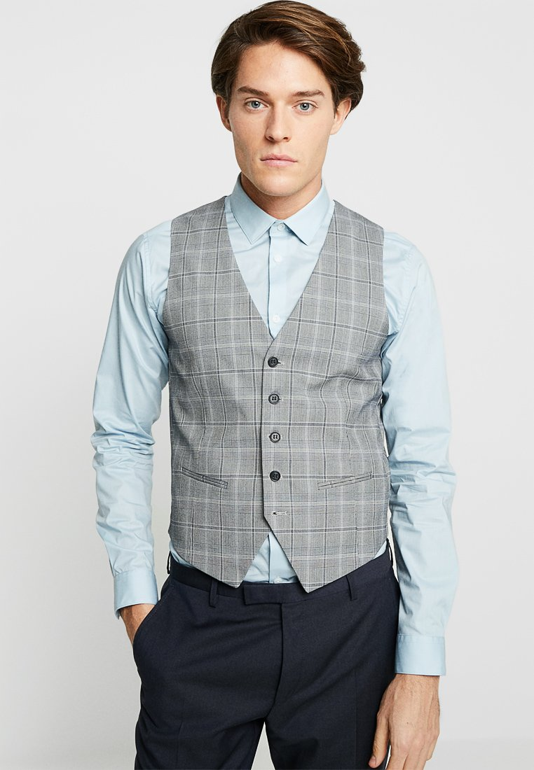 Lindbergh - WAIST COAT FOR CHECKED SUIT - Waistcoat - grey check