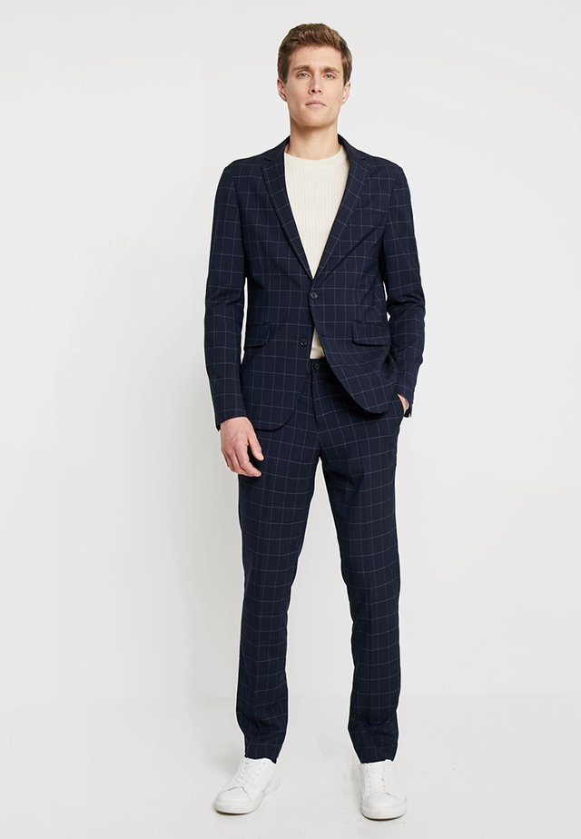 CHECKED SUIT SLIM - Suit - navy