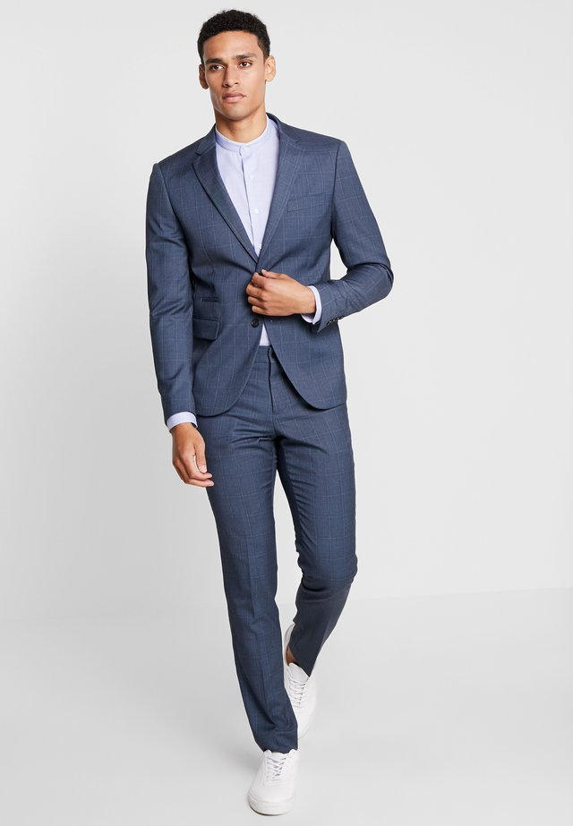 CHECKED SUIT - Suit - blue