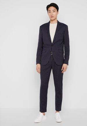 STRIPED SUIT - Suit - dark blue