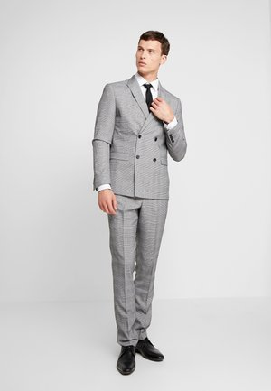 CHECKED SUIT - Costume - grey