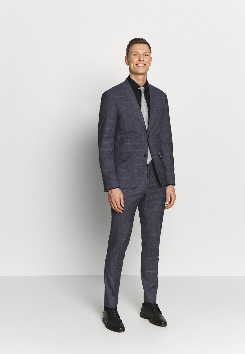 Lindbergh - CHECKED SUIT - Oblek - grey check