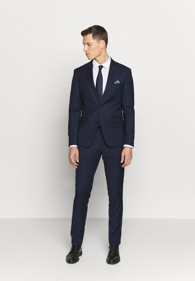 DOT STRUCTURE SUIT - Suit - navy