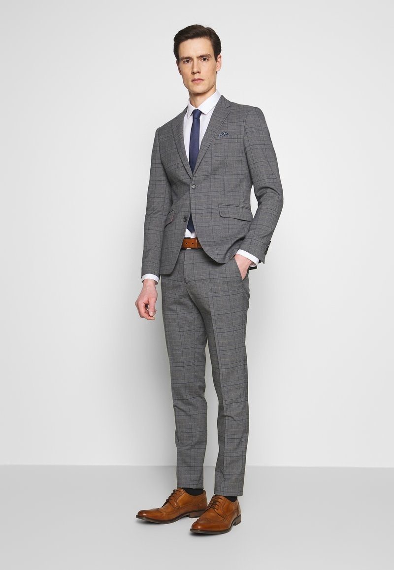 Lindbergh - CHECKED SUIT - Costume - grey