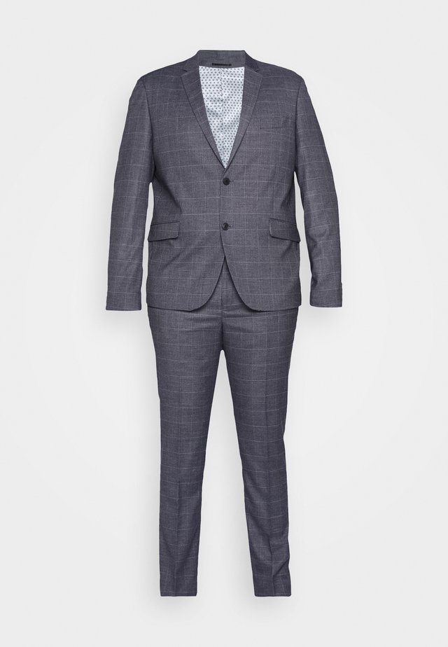 CHECKED SUIT PLUS - Oblek - grey