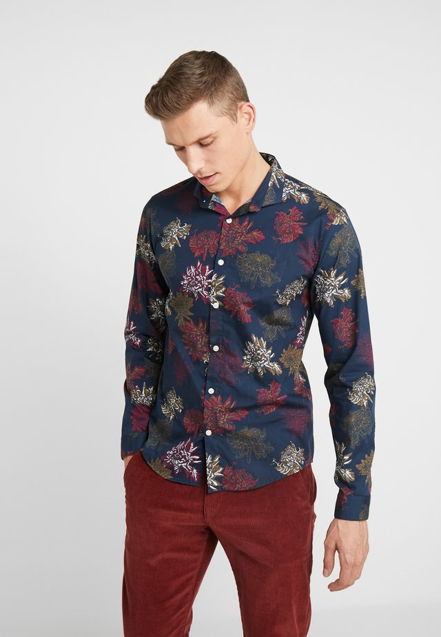 FLORAL - Shirt - navy