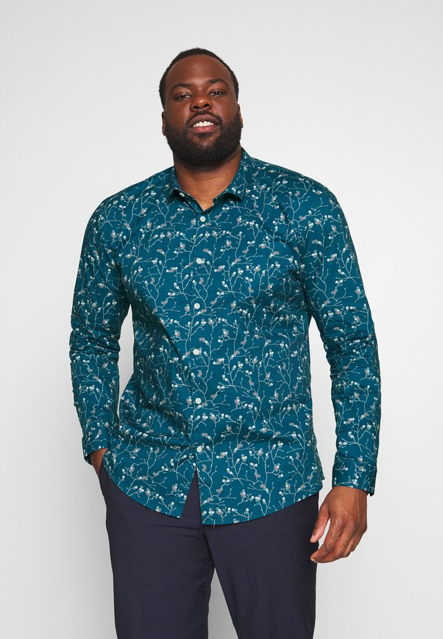 FLORAL PRINT PLUS - Shirt - blue