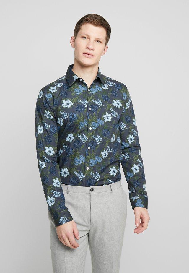 LARGE FLORAL - Overhemd - blue