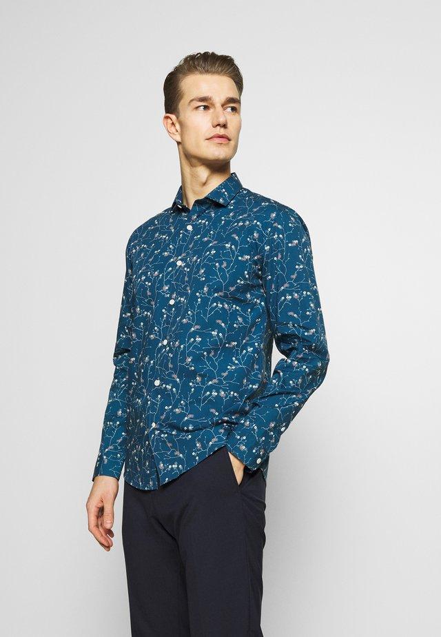 FLORAL PRINT - Skjorta - blue