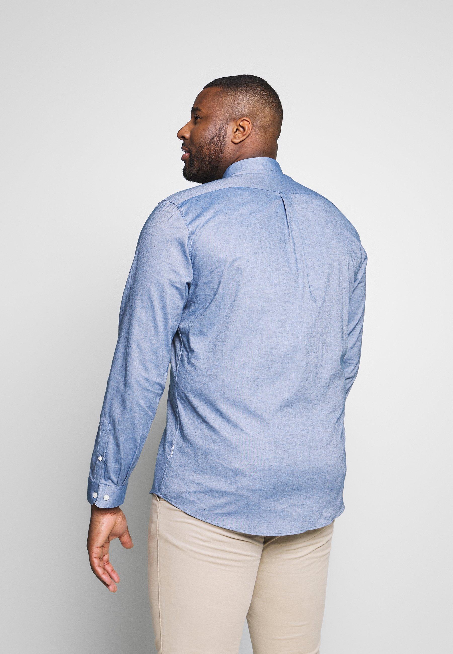 Lindbergh Kostymskjorta - mid blue mel