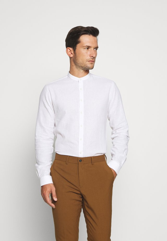 MANDARIN COLLAR SHIRT  - Camicia - white