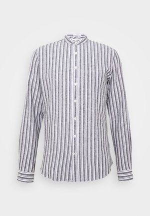 MANDARIN COLLAR SHIRT  - Shirt - navy