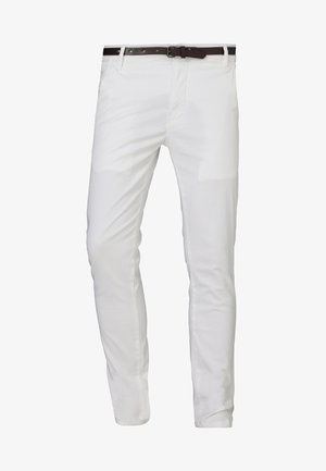 CLASSIC STRETCH BELT - Stoffhose - white