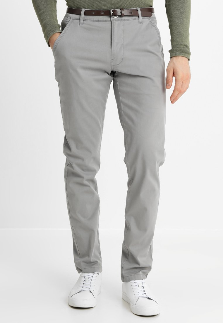 Lindbergh - CLASSIC STRETCH WITH BELT - Bukse - silver