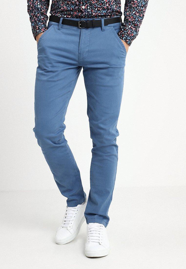 Lindbergh - CLASSIC STRETCH WITH BELT - Pantalones - mid blue