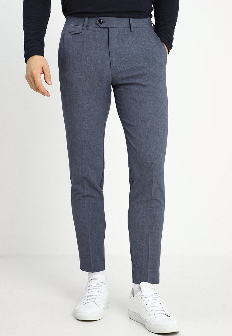 Lindbergh - SUIT PANTS - Trousers - blue mix