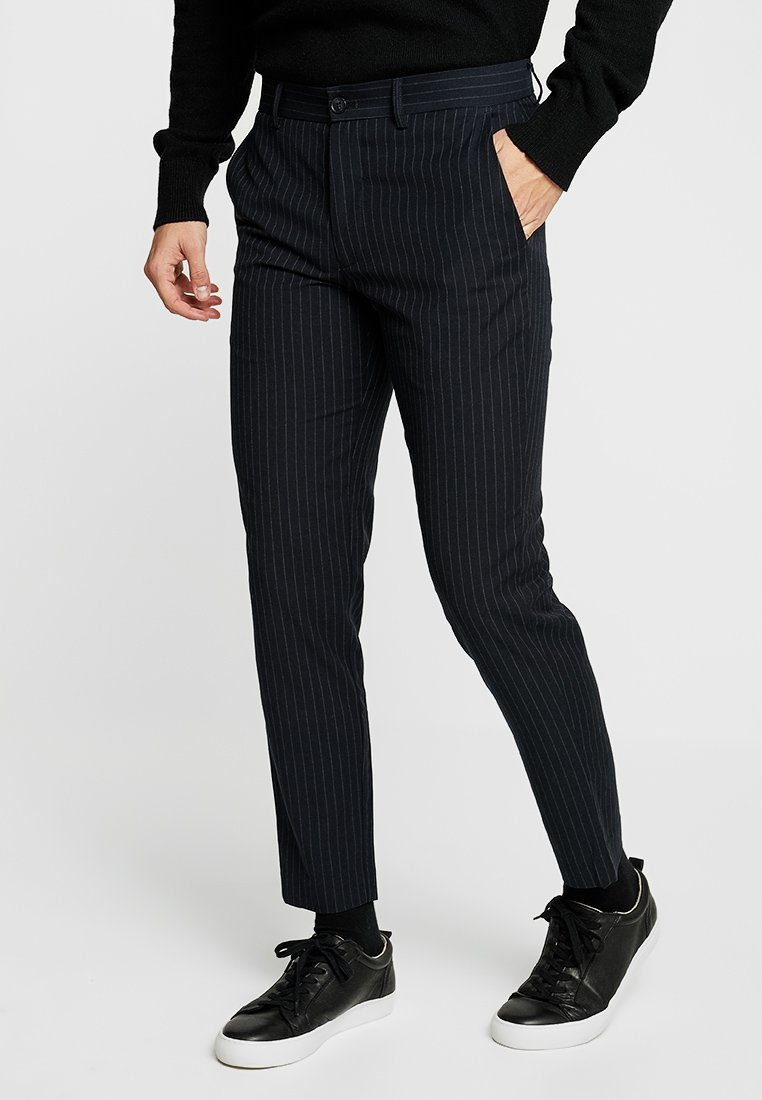 Lindbergh - PINSTRIPE TROUSERS LIKE CLUB PANTS - Trousers - navy