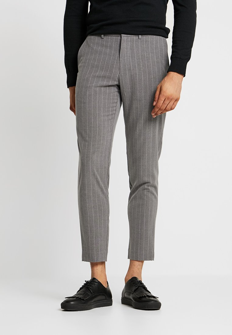 Lindbergh - PINSTRIPE TROUSRERS LIKE CLUB PANTS - Tygbyxor - grey melange
